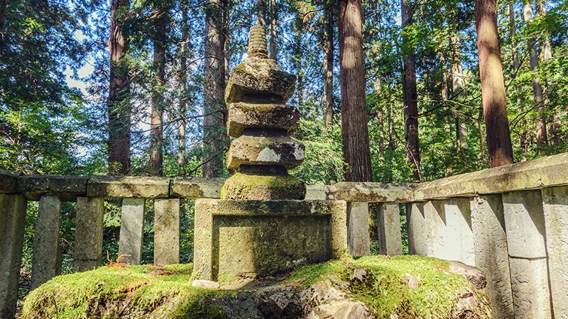 平泉寺白山神社 楠木正成の供養塔