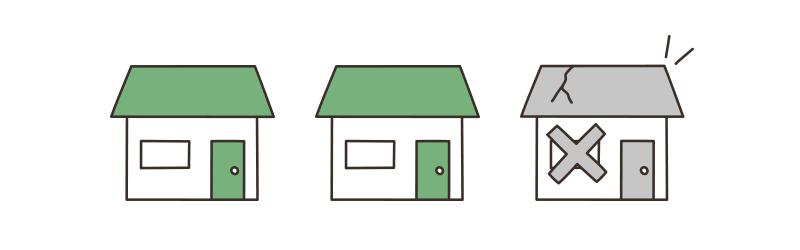 3戸に1戸が空き家のイメージ